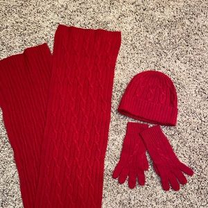 |Brooks Brothers Matching Hat, Gloves and Scarf